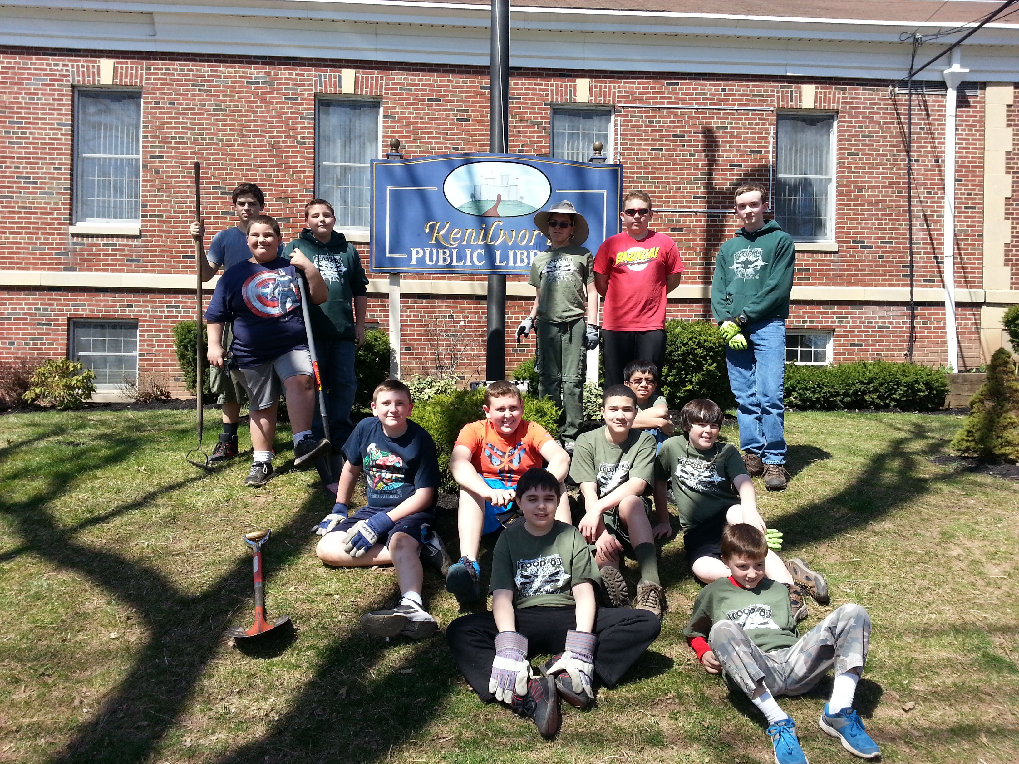 Renna media earth day clean up by troop 83 for Olive garden union nj