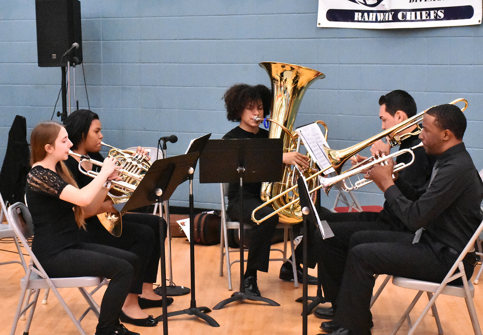 (above) The Rahway High School Band