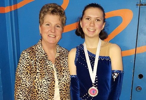 (above l-r) Coach Mary Dunham and Jaclyn Beviano.