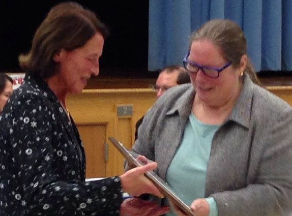 (above) Mrs. Theresa Langer has been assisting middle school math students at Valley View School for many years.