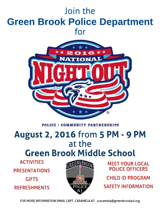 Green Brook National Night Out @ Green Brook Middle School | Green Brook Township | New Jersey | United States
