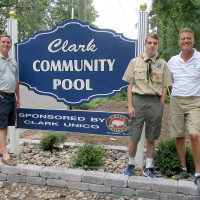 Eagle Scout Project Beautifies The Clark Community Pool