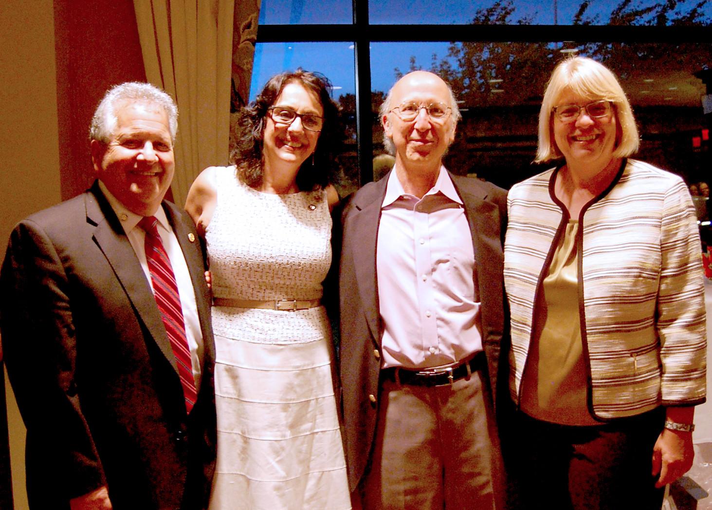 (above l-r) Steve Goldberg (President-Elect 2017 ), Carmela Resnick (President), Don Rosenberg (Treasurer), Kim Decker (Secretary).