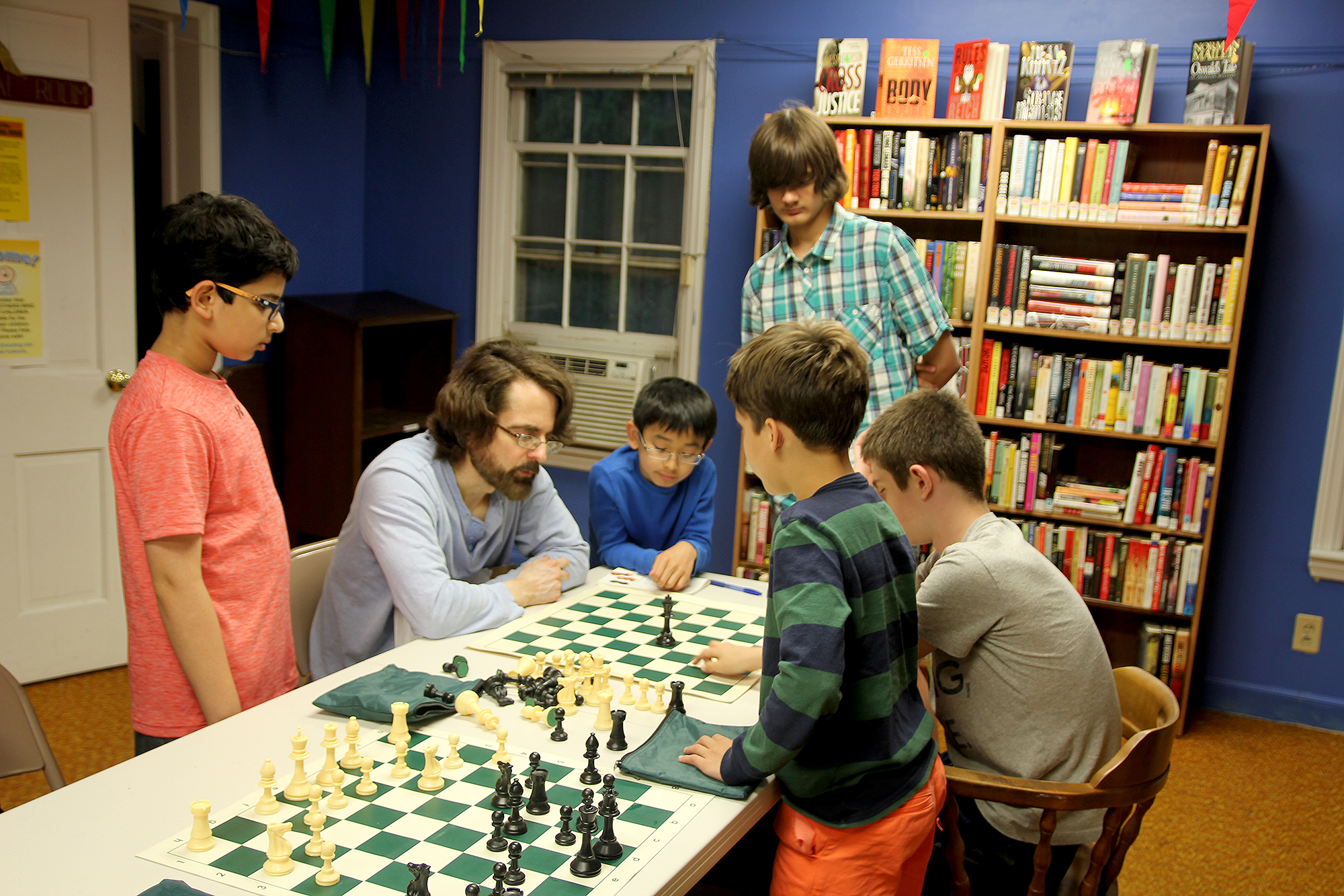 (above) Chess Club players and Coach