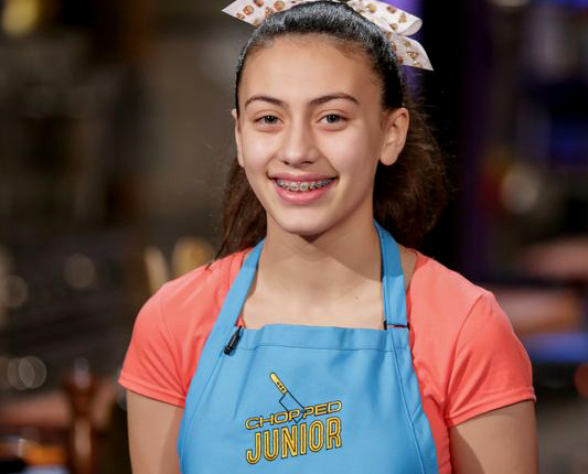 (above) Emily Stass Competes on Food Network's Chopped Junior Image is courtesy of Food Network.