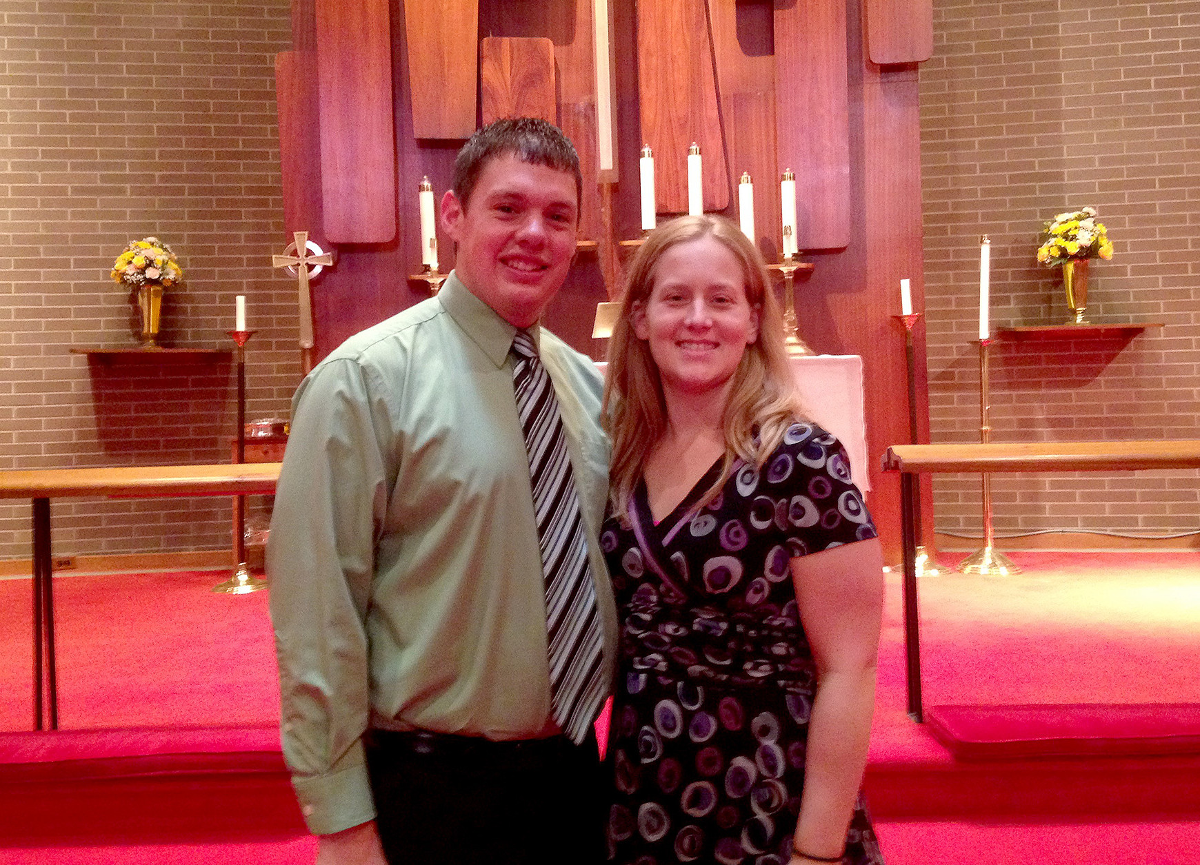 (above) Pastor Grewe and his wife, Melinda