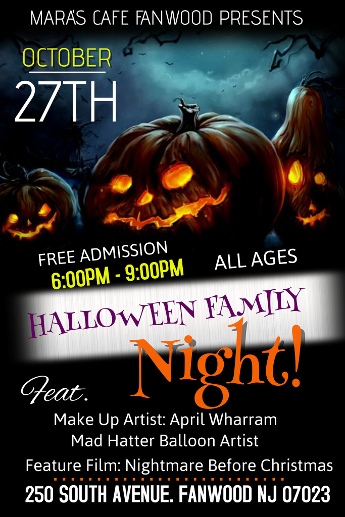 Fanwood Halloween Family Night @ Mara's Cafe | Fanwood | New Jersey | United States