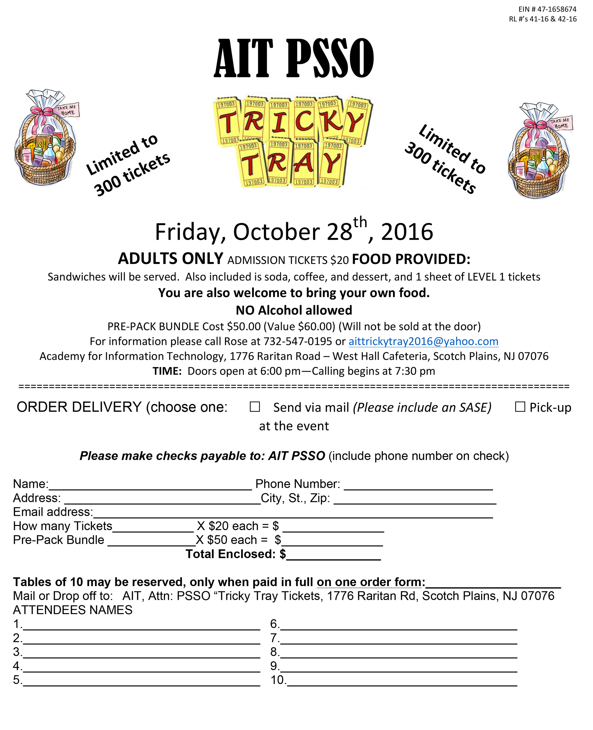 Microsoft Word Tricky Tray Public Order form 092716docx – How to Make an Order Form in Word