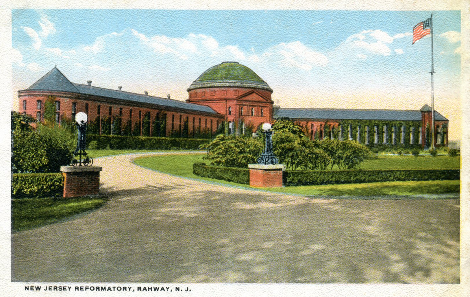 (above) Even early postcards such as this one (c. 1910) mistakenly lists the location of the New Jersey Reformatory as Rahway, N.J.