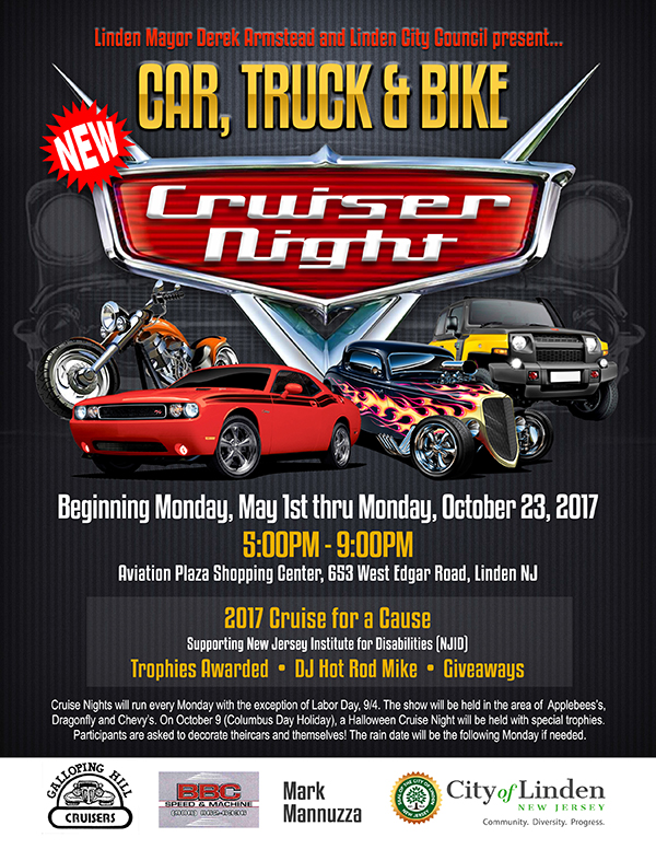 Linden Car, Truck & Bike Cruise Night @ Aviantion Plaza Shopping Center | Linden | New Jersey | United States