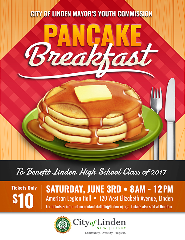 Linden Pancake Breakfast @ American Legion Hall | Linden | New Jersey | United States