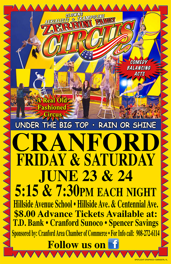 Cranford Zerbini Family Circus @ Hillside Avenue School