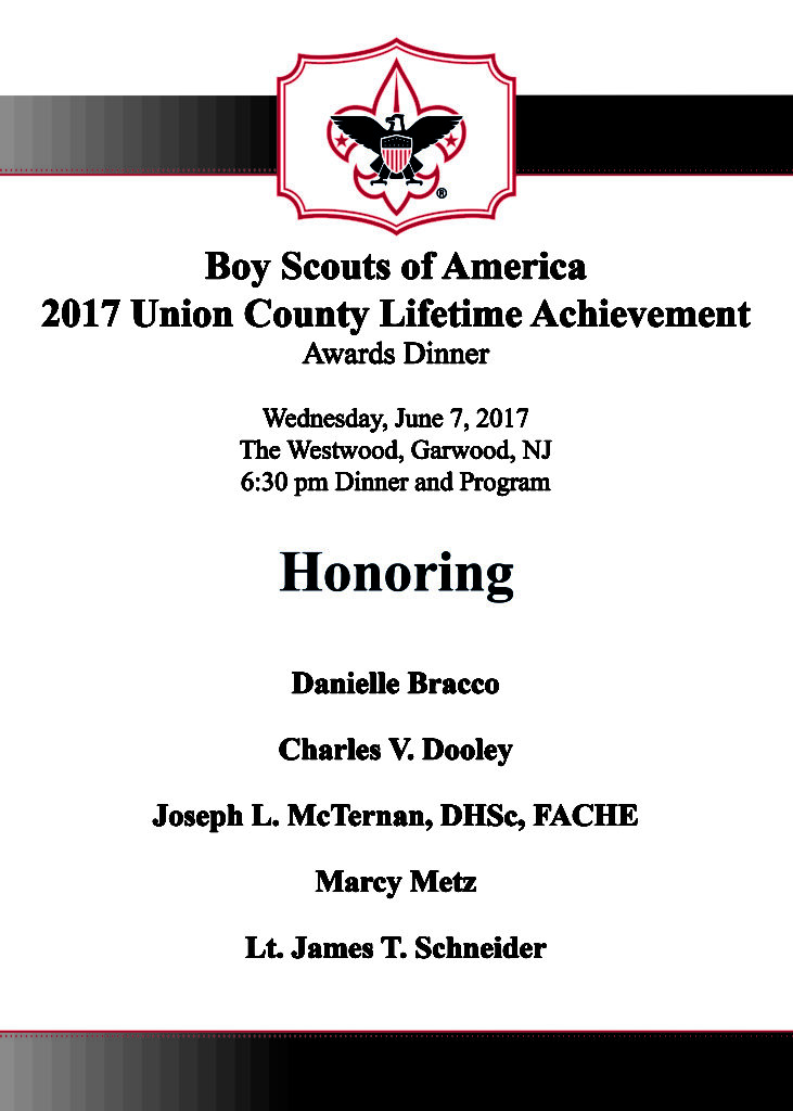 Boy Scouts of America 2017 Union Lifetime Achievement Awards Dinner @ The WestWood | Garwood | New Jersey | United States