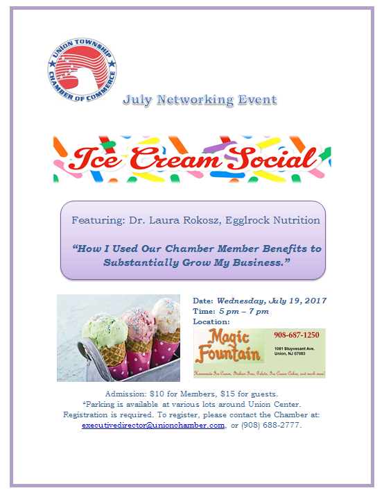 Union Ice Cream Social @ Magic Fountain | Union | New Jersey | United States