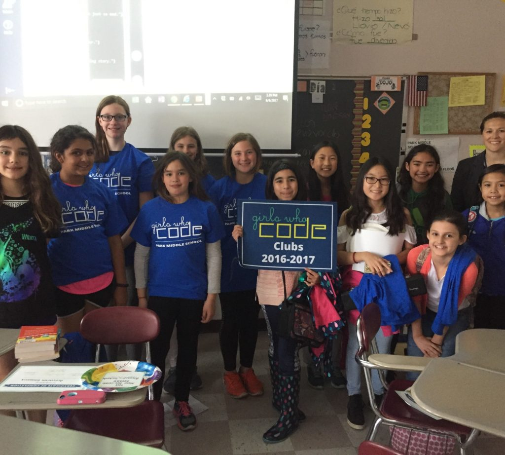 Middle School Hal Monthly News: Park Middle School Girls Who Code Club
