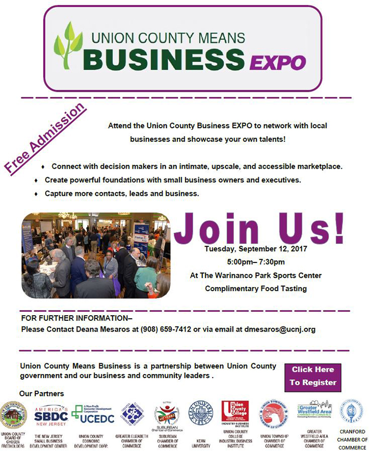 Union County Means Business Expo @ Warrinanco Park Sports Center