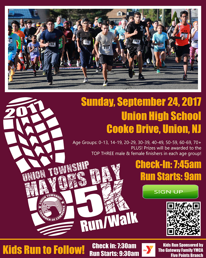 Union Township Mayor's Day 5K Run/Walk @ Union High School | Union | New Jersey | United States