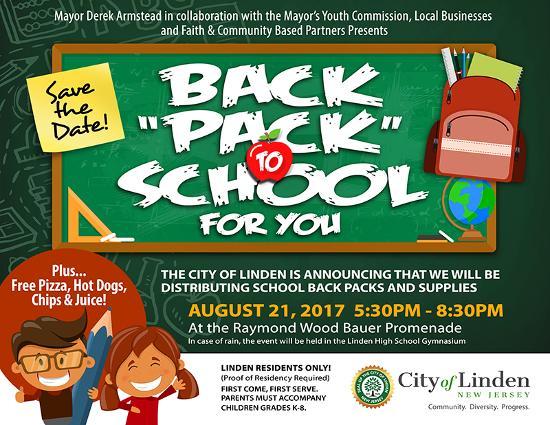 Linden Distributing Back Packs and School Supplies @ Raymond Wood Bauer Promenade