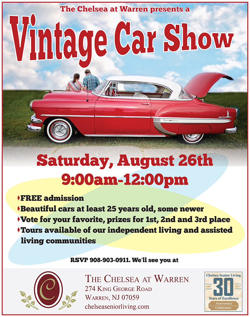 The Chelsea Presents Vintage Car Show @ The Chelsea | Warren | New Jersey | United States