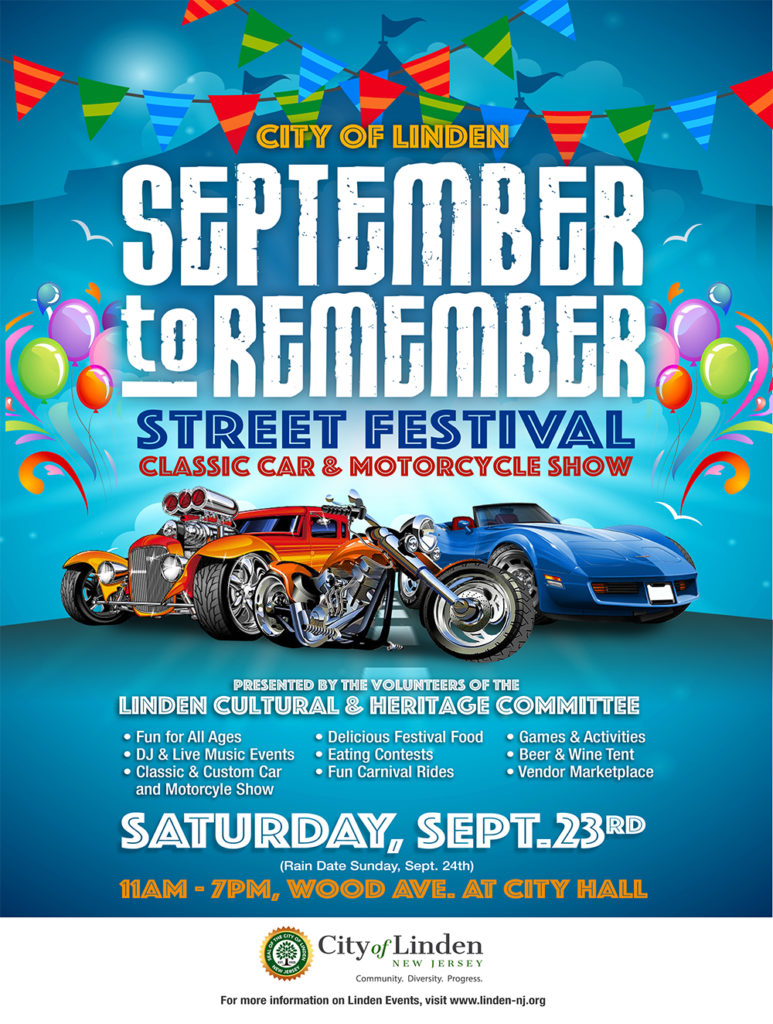 Linden September to Remember Street Festival @ Wood Avenue, City Hall