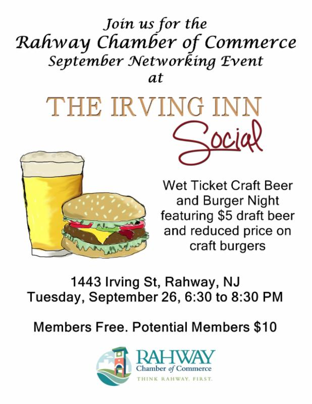 Rahway COC Networking Event @ The Irving Inn | Rahway | New Jersey | United States