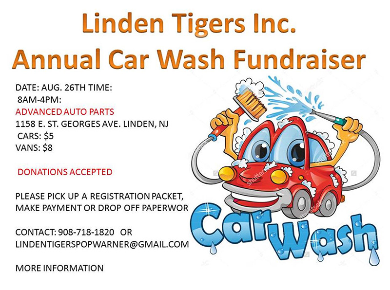 Linden Tigers Inc. Annual Car Wash Fundraiser @ Advanced Auto Parts | Roselle | New Jersey | United States