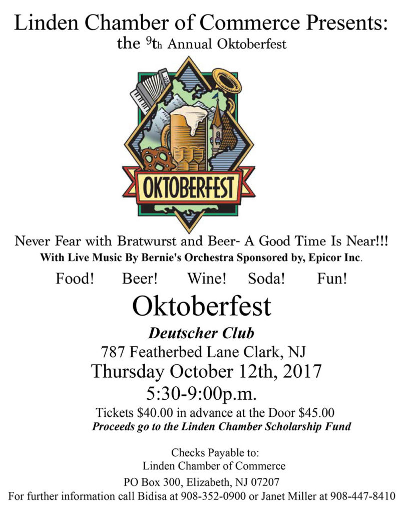 Linden COC 9th Annual Oktoberfest @ Deutscher Club | Clark | New Jersey | United States