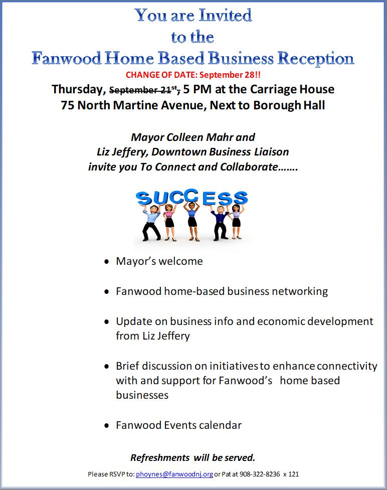 Renna Media   Fanwood Home Based Business Reception  