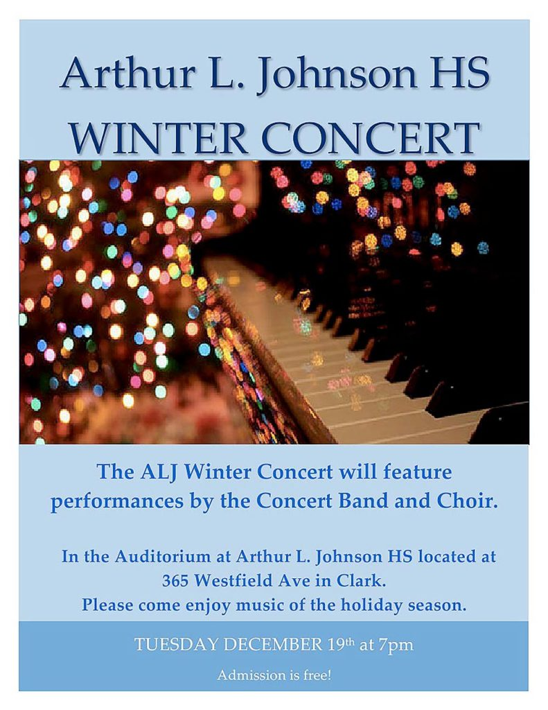 Clark Arthur L. Johnson Winter Concert @ Arthur L. Johnson HS Auditorium | Clark | New Jersey | United States