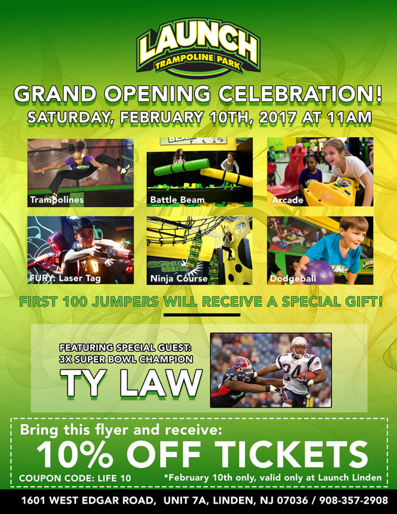 Linden Launch Trampoline Park Grand Opening @ Trampoline Park | Linden | New Jersey | United States