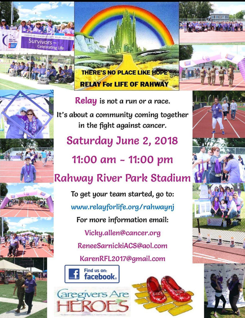Rahway's 2nd Annual Relay for Life @ Rahway River Park Stadium | Rahway | New Jersey | United States
