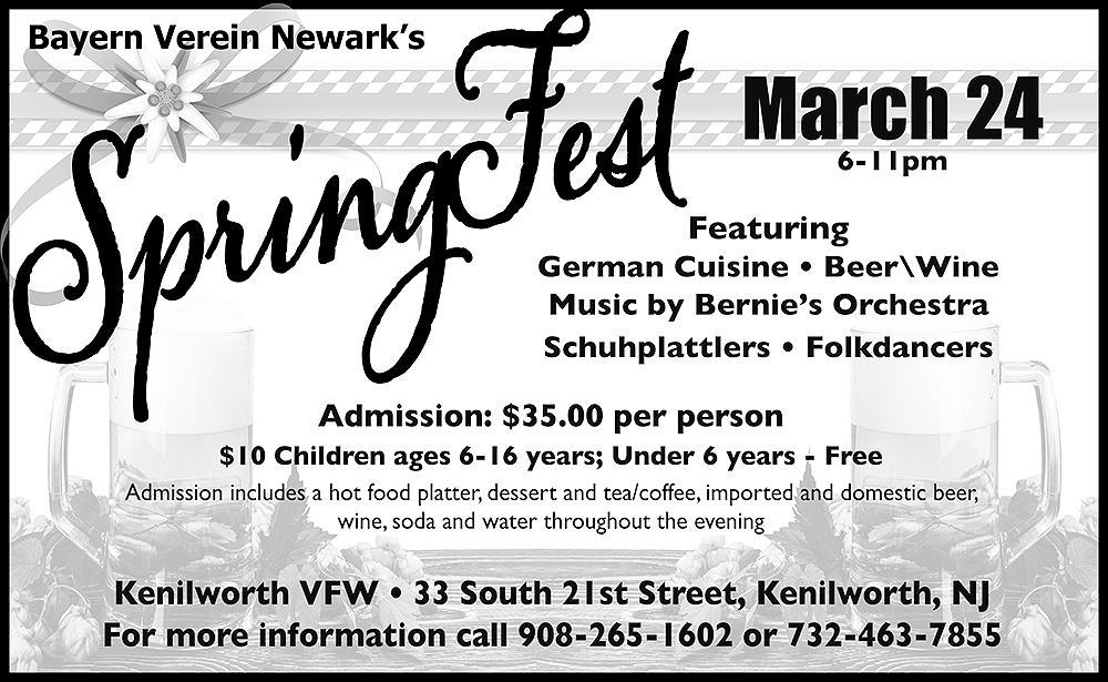 Kenilworth SpringFest! @ Kenilworth VFW | Kenilworth | New Jersey | United States