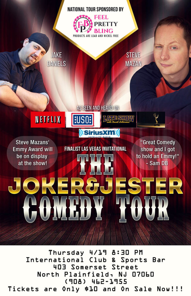The Joker & Jester Comedy Tour @ International Club & Sports Bar | North Plainfield | New Jersey | United States