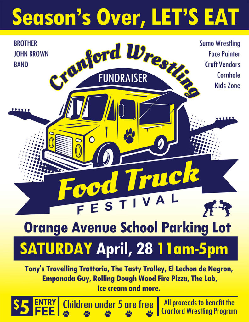 Cranford Wrestling Fundraiser Food Truck Festival Renna Media