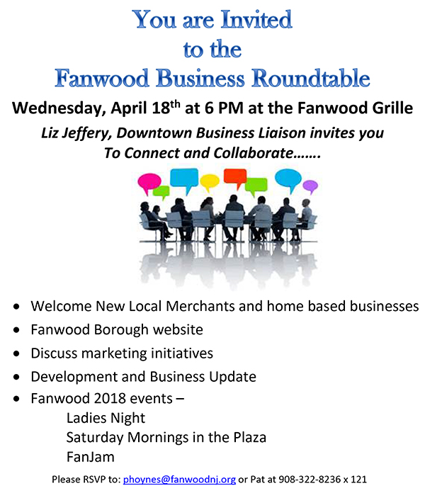 Fanwood Business Roundtable @ Fanwood Grille