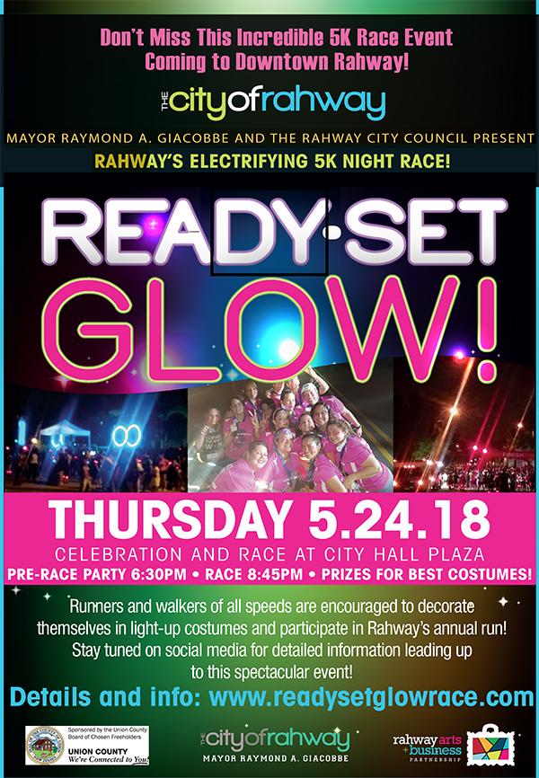 Rahway Ready Set Glow 5K Race @ City Hall Plaza