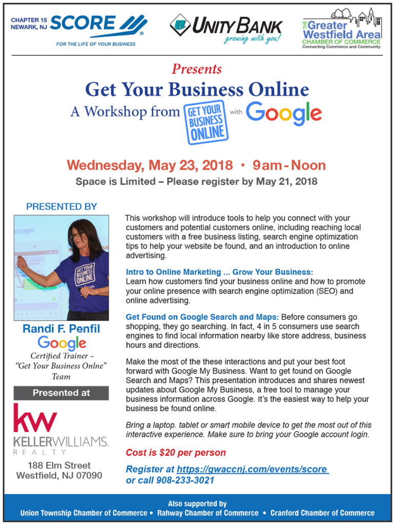 Get Your Business Online Workshop @ Keller Williams Realty | Westfield | New Jersey | United States