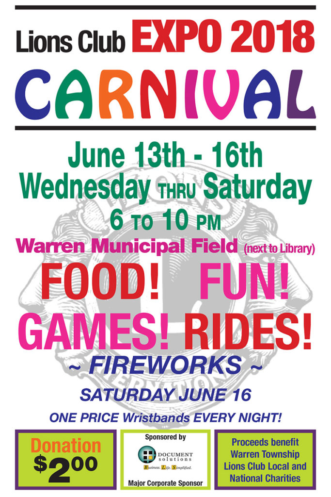 Warren Lions EXPO 2018 @ Warren Municipal Field
