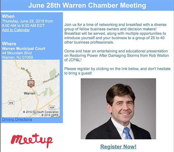 Warren Chamber Meeting @ Warren Municipal Court | Warren | New Jersey | United States