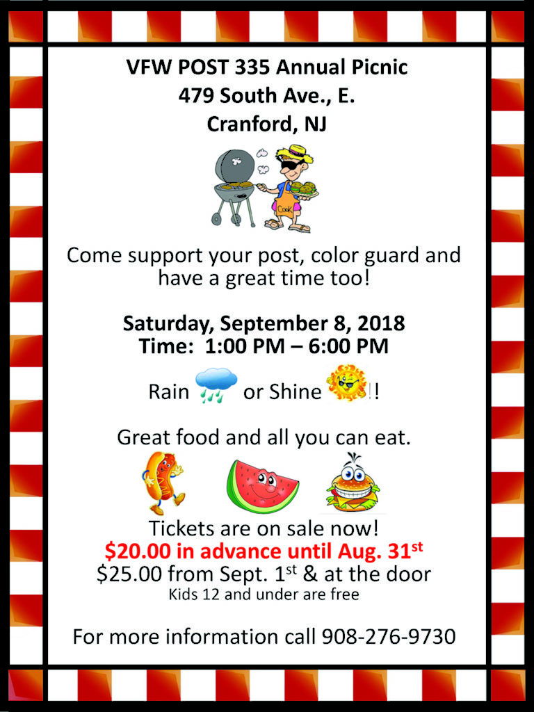 Cranford VFW POST 335 Annual Picnic