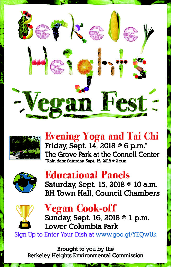 First Ever Vegan Fest to be Held in Berkeley Heights Sept. 14 – 16