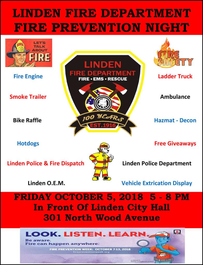 Linden Fire Department Fire Prevention Night