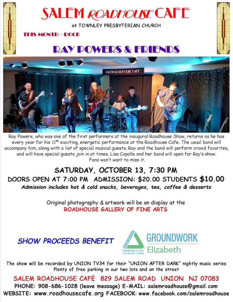 RAY POWERS & FRIENDS  to perform at Northern New Jersey's Most Intimate Coffeehouse