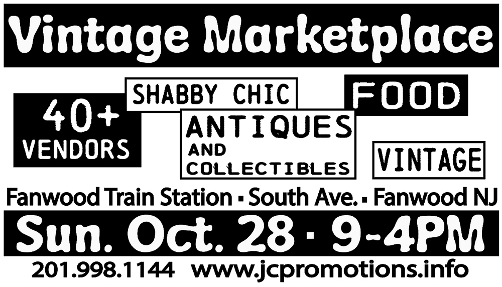 Fanwood Vintage Marketplace @ parking lot of the Fanwood Train Station on South Ave.