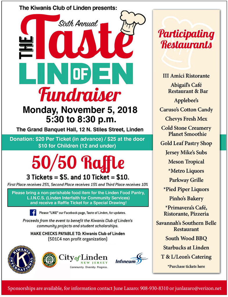 6th Annual Taste of Linden Fundraiser