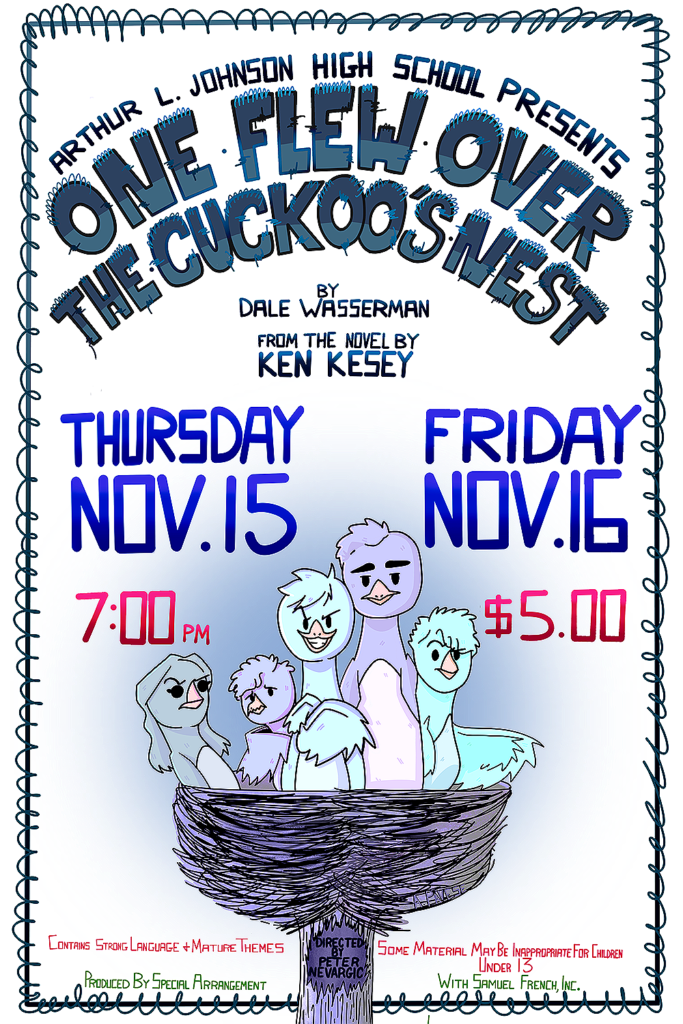 ARTHUR L. JOHNSON HIGH SCHOOL Proudly presents ONE FLEW OVER THE CUCKOO'S NEST A PLAY @ ALJ high school
