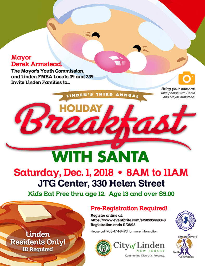Linden's 3rd Annual Holiday Breakfast With Santa