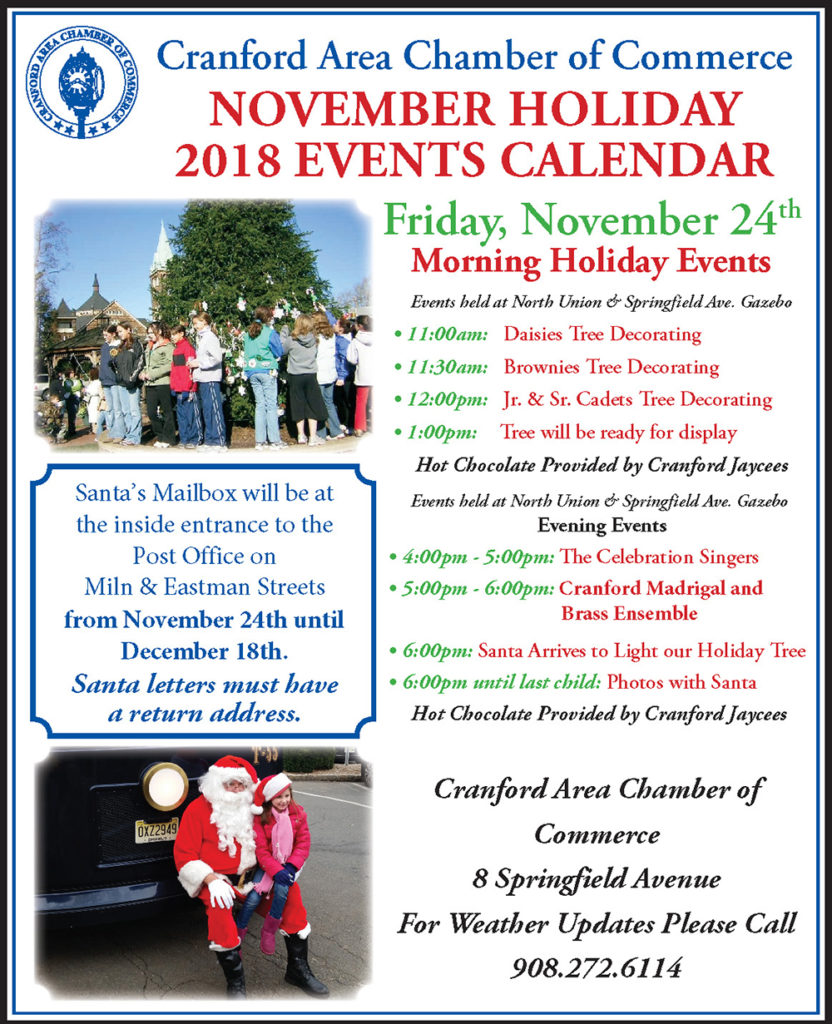 Cranford November Holiday Events