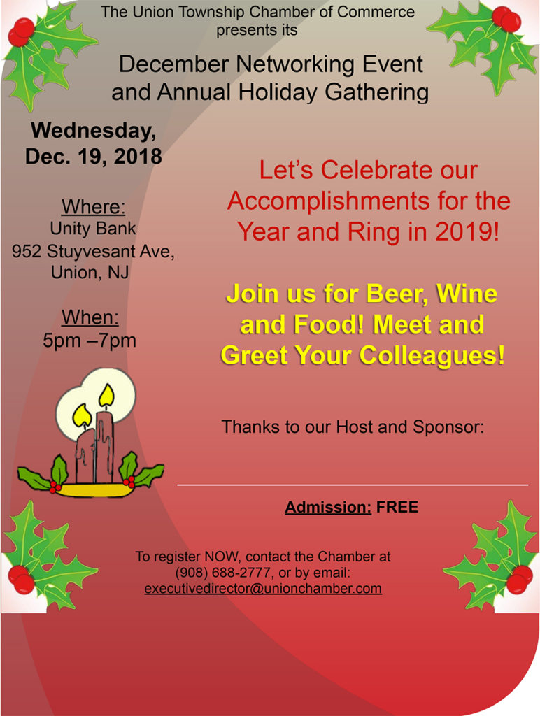 Union Chamber of Commerce Networking Holiday Gathering