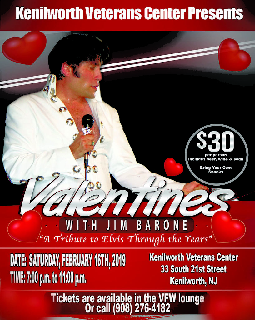 Kenilworth Veterans Center Presents Valentines with Jim Barone